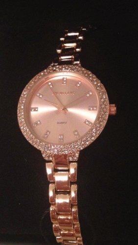 Elegante Damen-Uhr mit Metallarmband in Rosegoldfarben NEU!