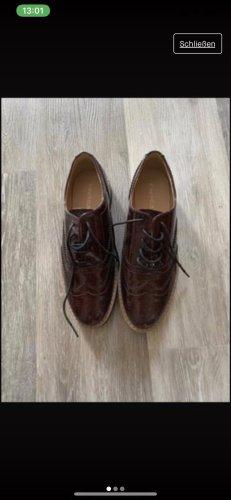 Keine Marke Zapatos formales sin cordones burdeos