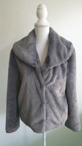 Guess Giacca in eco pelliccia grigio