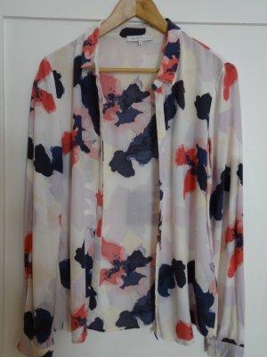 Elegante, fließende Bluse mit Blumen-Print