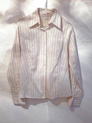 elegante, gestreifte Langarm-Bluse