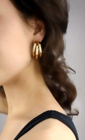 Elegante goldene vintage Ohrringe
