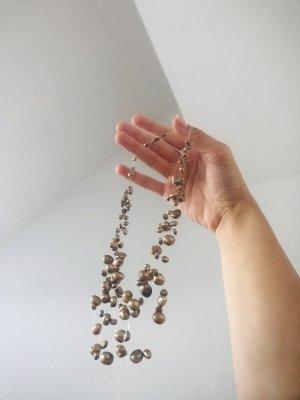 Elegante Halskette Collier Perlenkette Echtschmuck Naturperlen