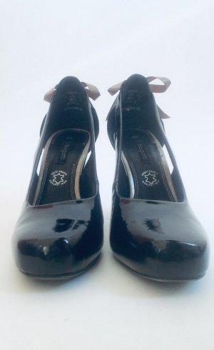 Bugatti High Heels black-silver-colored