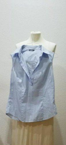 Elegante hellblaue SISLEY Bluse ärmellos in Größe S. Ist eine kleine S und passt eher bei XS