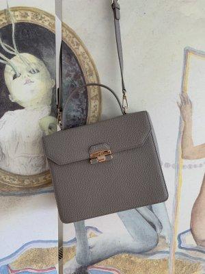 Furla Shoulder Bag light grey leather