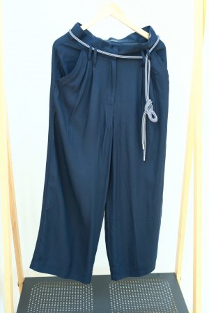 Airfield High Waist Trousers dark blue acetate