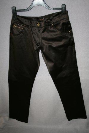 Pantalon cinq poches brun foncé