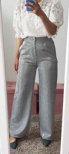 Marlene Trousers silver-colored