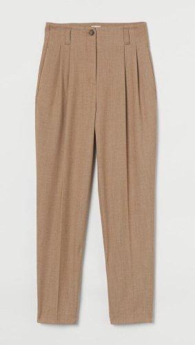 H&M Pantalon à pinces chameau