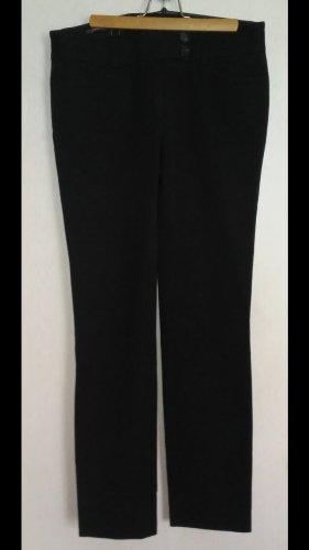 René Lezard Pantalón tipo suéter negro-taupe Algodón
