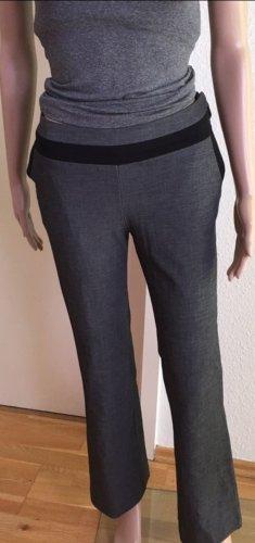 H&M Lage taille broek zwart-donkergrijs