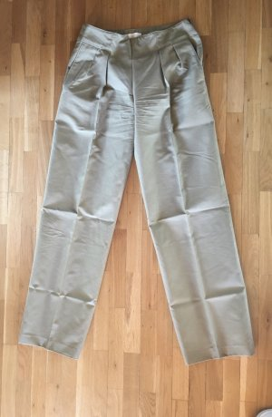 C. Valentino Pleated Trousers sage green cotton