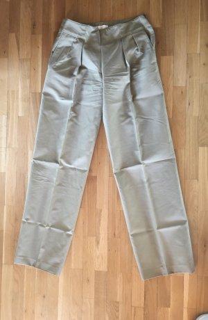 C. Valentino Spodnie z zakładkami szaro-zielony Bawełna