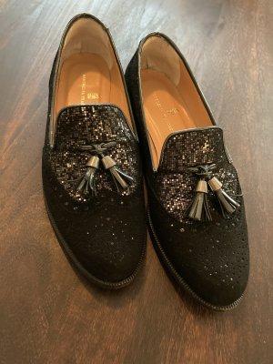 Franchetti Bond Pantofola nero-argento
