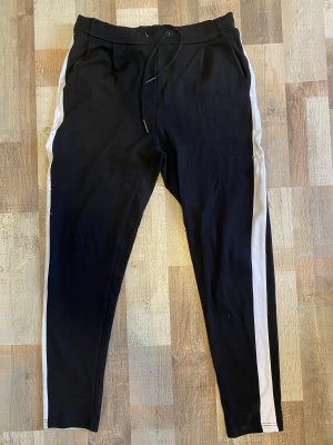 Takko Fashion Pantalone fitness nero-bianco