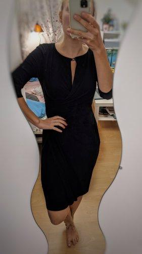 Lauren by Ralph Lauren Vestido cruzado negro