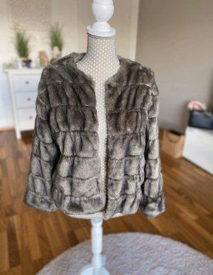 Zara Fake Fur Jacket multicolored