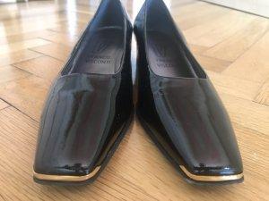 Franco Visconti Ballerines en cuir verni noir