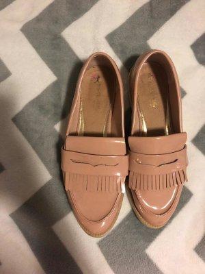 Wingtip Shoes white-dusky pink mixture fibre