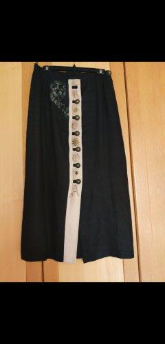 Falda folclórica negro-beige