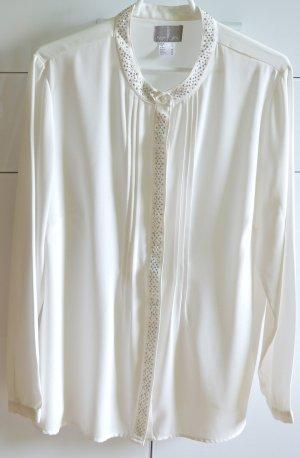 Fair Lady Blouse à manches longues blanc polyester