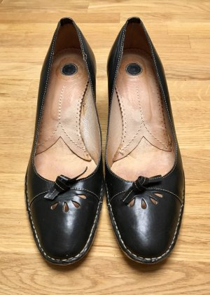 Elegante Leder Pumps schwarz