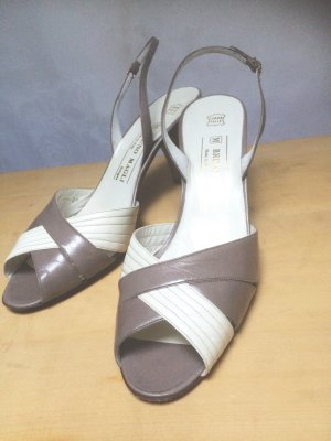 Bruno Magli Strapped High-Heeled Sandals light grey-white leather