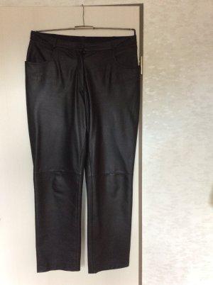 Alba Moda Pantalón de cuero negro Cuero