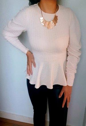 Elegante Peplum/Schößchen Bluse mit Puffärmel