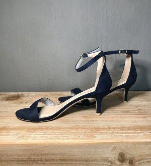 Hoge hakken sandalen blauw-donkerblauw