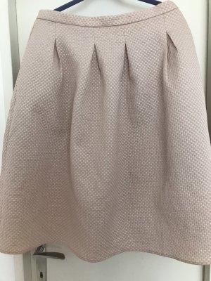 H&M Falda globo rosa-color plata