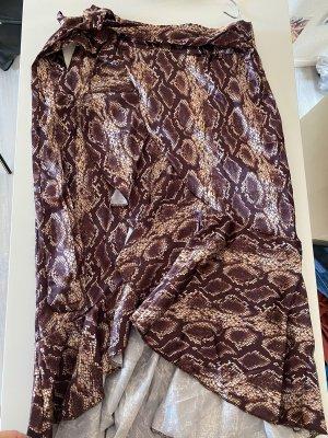 Boohoo Spódnica midi ciemnobrązowy