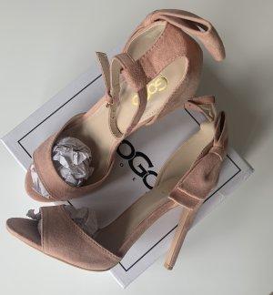 Elegante Sandalen .. High Heels Pumps .. Riemchen .. apricotfarbend/rosa .. Gr. 39 # Italy Moda # Neu .. blogger