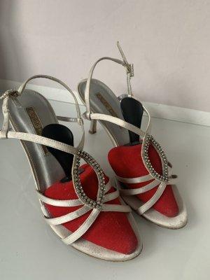 Elegante Sandalen mit Strasssteinen