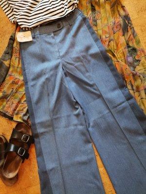 Vintage Jeans flare bleu azur-bleu acier