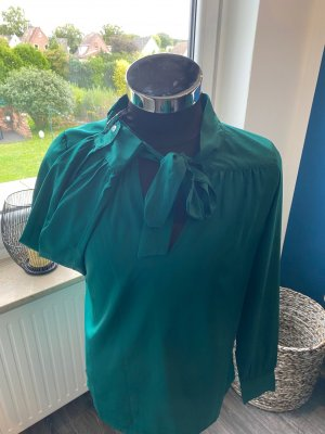 Sienna Blouse avec noeuds vert foncé polyester