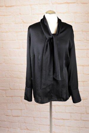 Elegante Schluppenbluse Bluse mit Schluppe Betty Barclay Größe XXL 46 Schwarz Hemdbluse