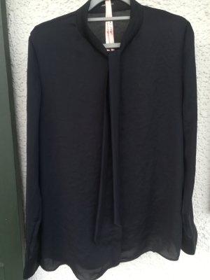 Marc Cain Tie-neck Blouse dark blue polyester