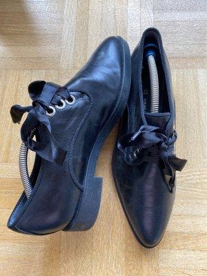 Cox Zapatos brogue negro Cuero