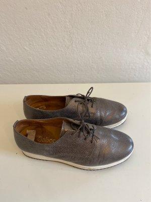 Gabor Sznurowane buty biały-szary Skóra