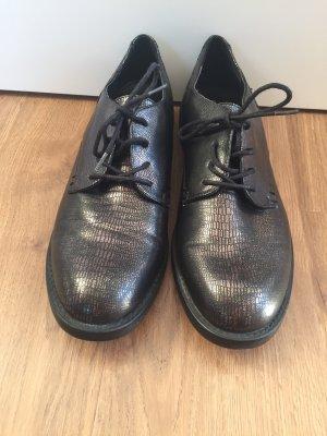 Deichmann Chaussures à lacets noir-bronze