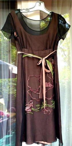 Szyfonowa sukienka Wielokolorowy Poliester
