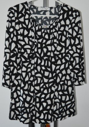 Couture Line Long Sleeve Blouse black-white polyester