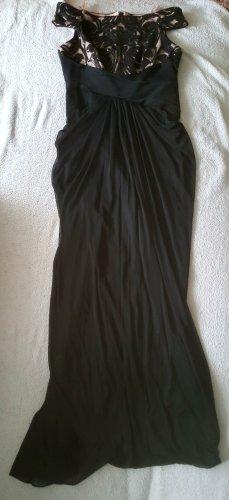 Adrianna Papell Vestido de noche negro-color rosa dorado Poliéster