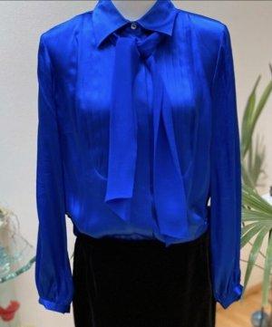 Madeleine Jedwabna bluzka niebieski