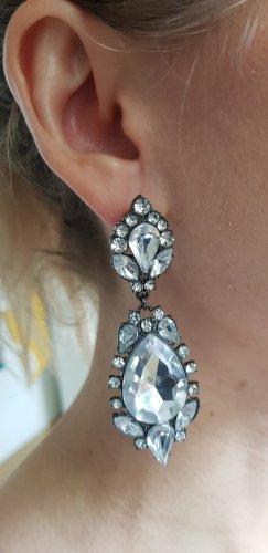 Elegante Statement-Ohrringe in Silber
