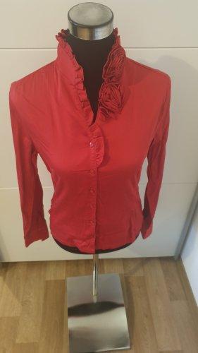 Nara Camicie Blusa de cuello alto rojo
