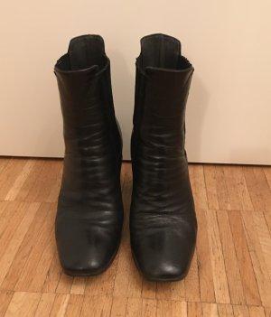 lavoarzione artigianale Wciągane buty za kostkę czarny-srebrny Skóra