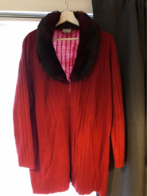 3 Suisses Knitted Cardigan dark red-carmine